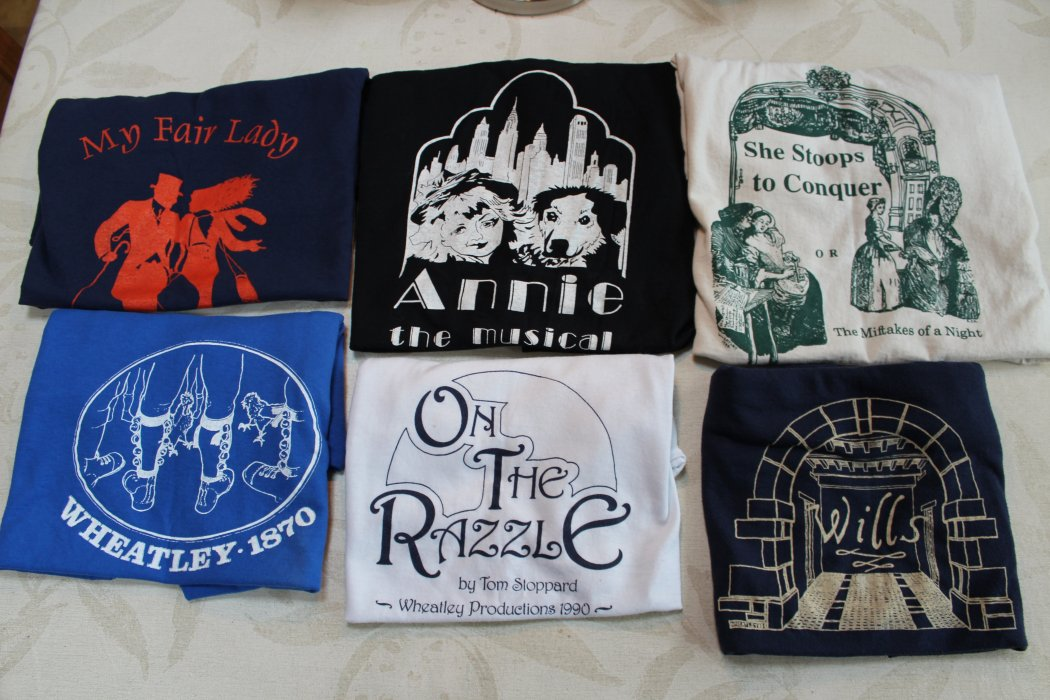 Six Wheatley Productions tea shirts