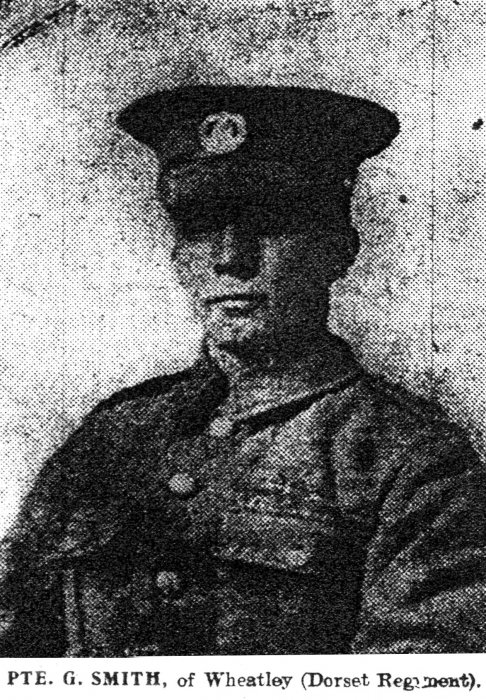 Private George Smith (Oxford Chronicle, 29 September 1916)